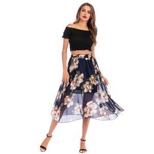Floral Chiffon Skirt